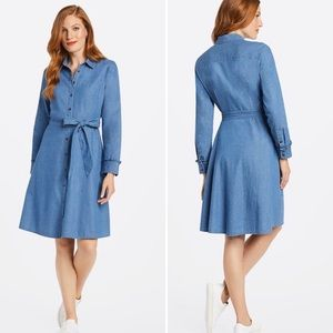 Draper James Chambray Shirtdress NWT